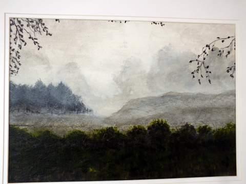 Over the Hedge. Original art by Irene Gelling