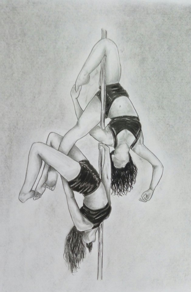 Dancers. Original art by Patricia Clarke