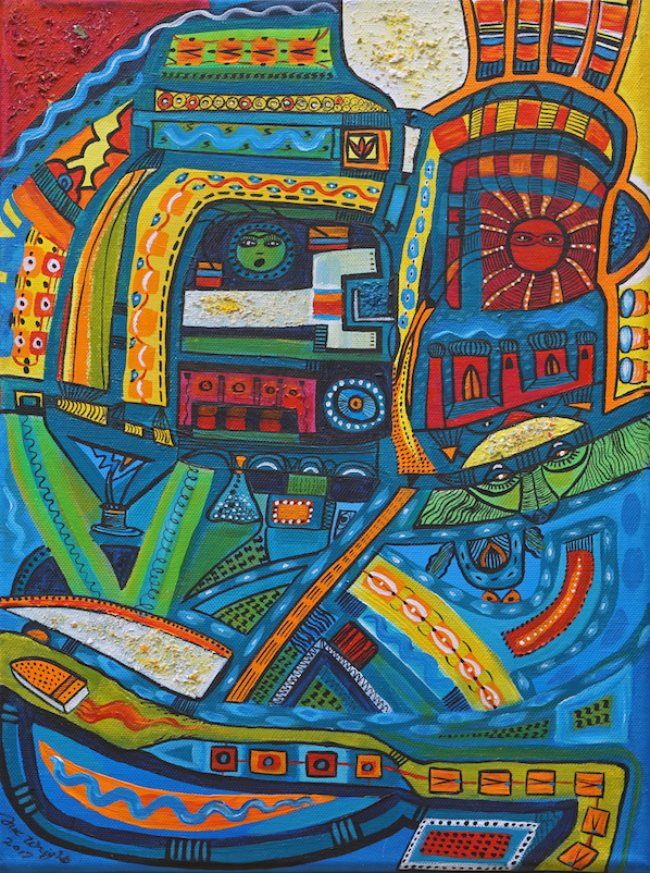 Centre of the Universe. Original art by Sue Wright