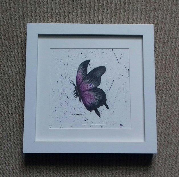 Purple Butterfly. Original art by Sarah Dodd