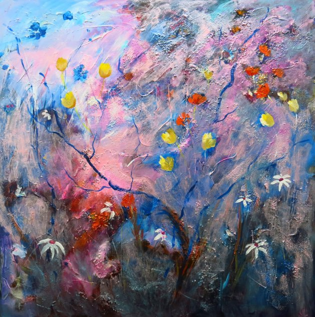 Arrival of Spring. Original art by Maureen Greenwood