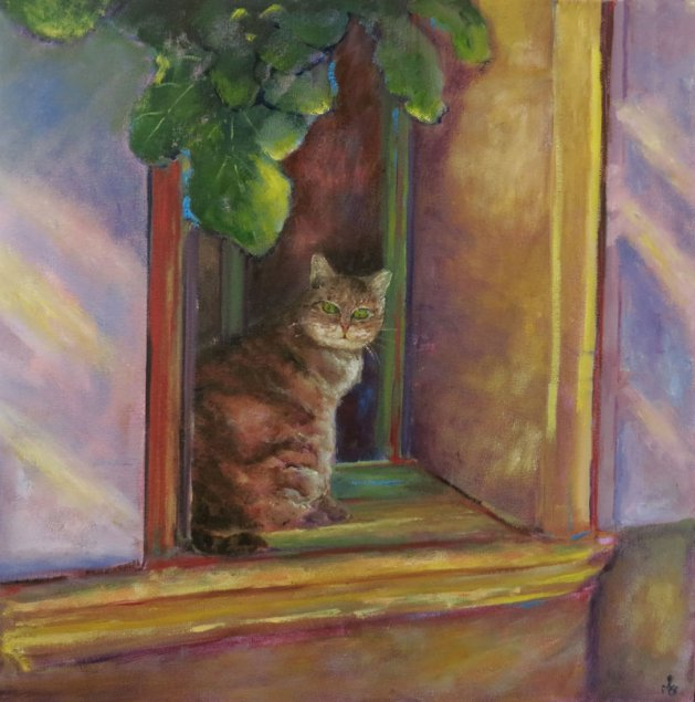 What are you looking at?. Original art by Maureen Greenwood
