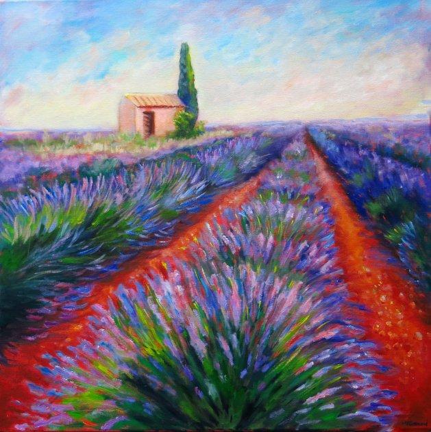 Lavender Fields. Original art by Maureen Greenwood