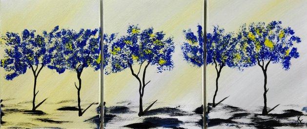 Yellow Blossom. Original art by Ken Cowins