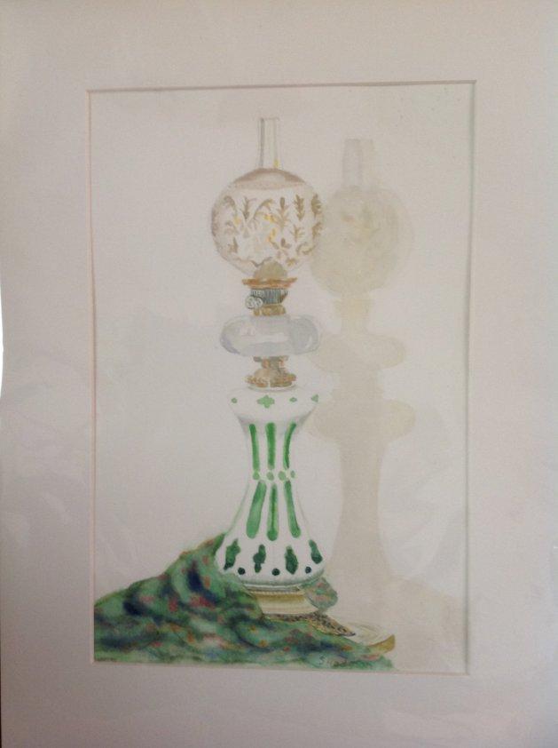 Lamp light. Original art by Sue Hodgson