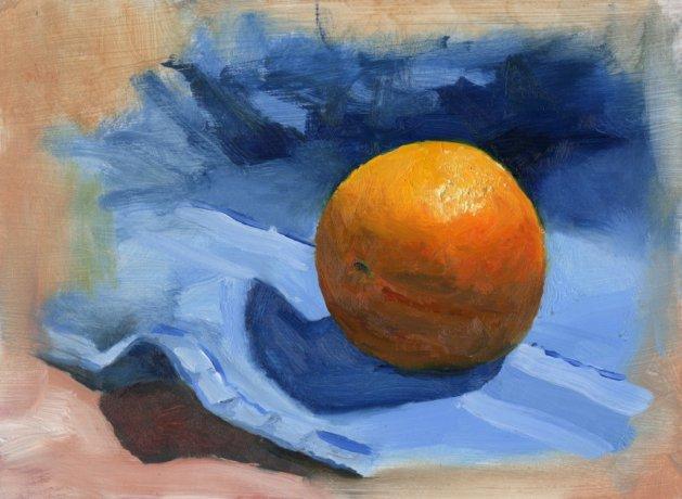 Orange and Blue. Original art by Steve Strode