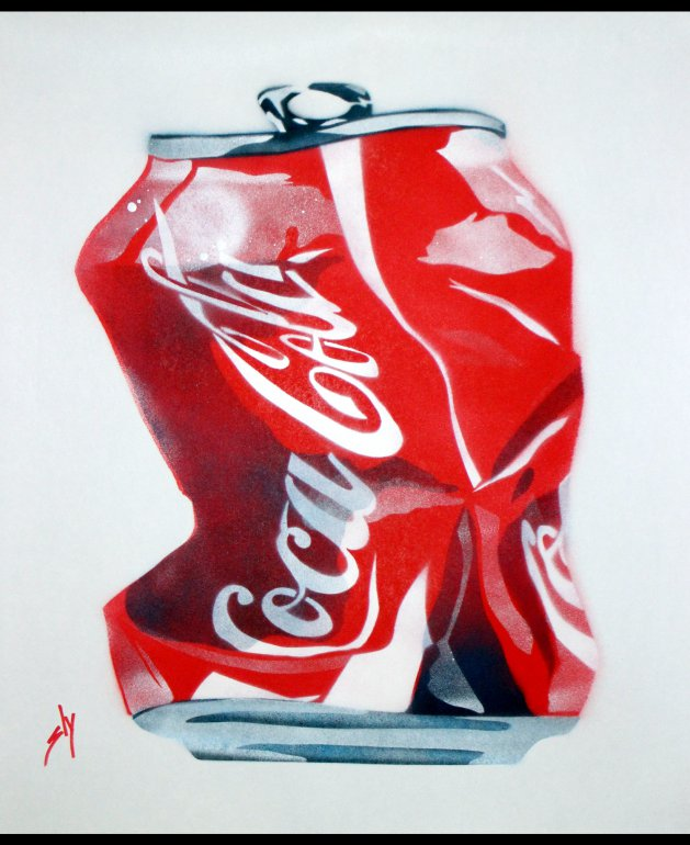 Crushed Coke. Original art by Juan Sly
