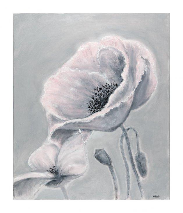Pink Poppy. Original art by Jennifer Bratby