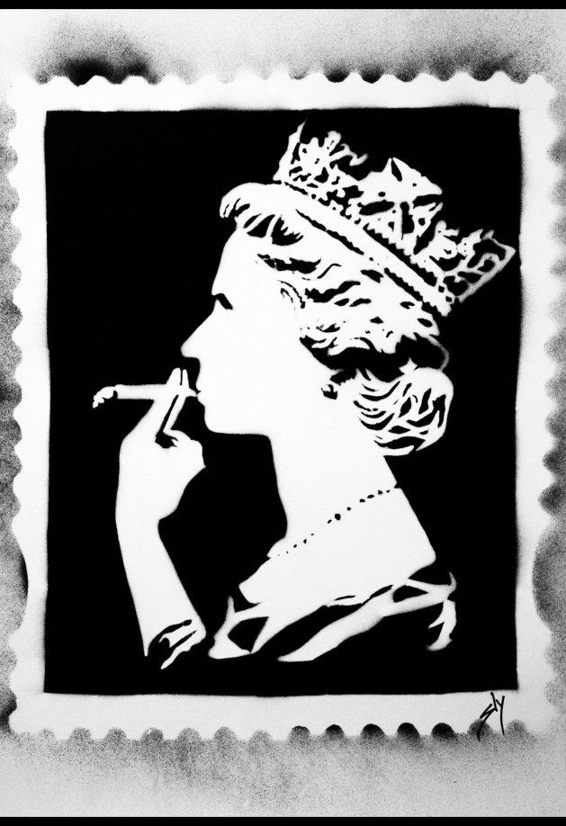 Spliff Queen. Original art by Juan Sly