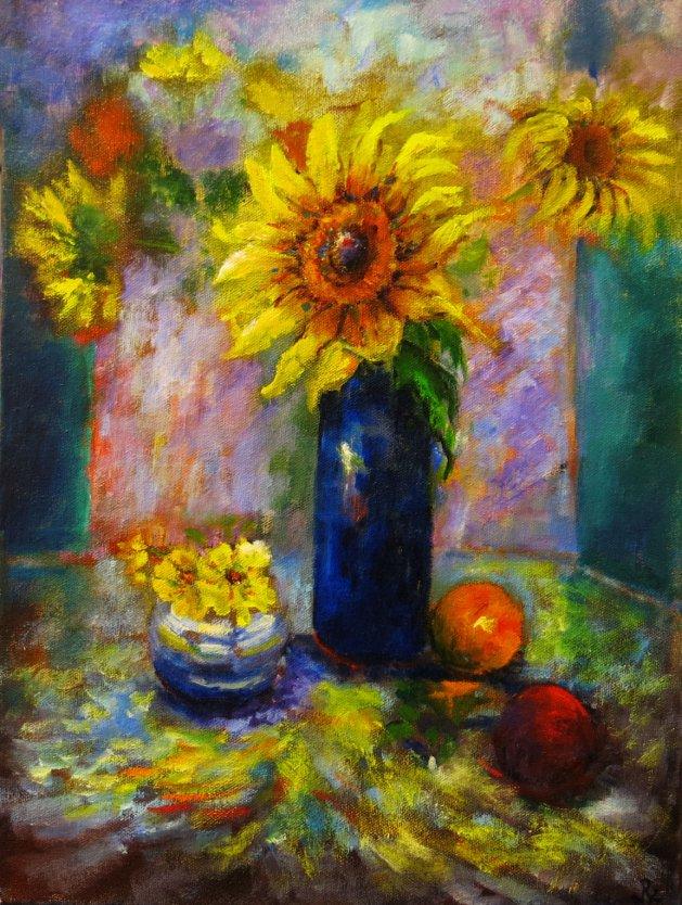 Sunflowers. Original art by Maureen Greenwood