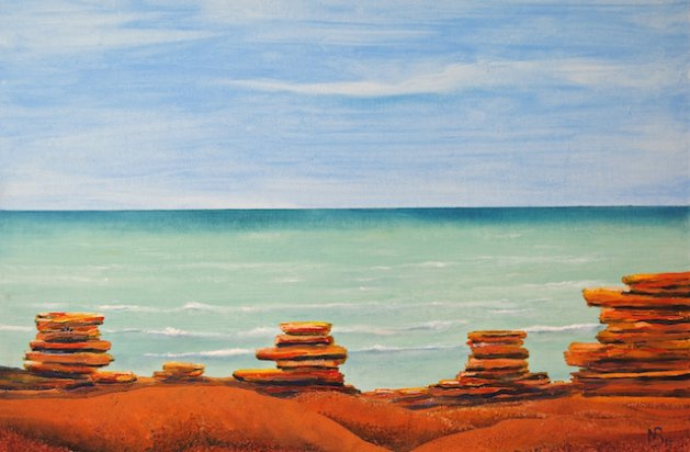 Gantheaume Point , WA. Original art by Nick Byford