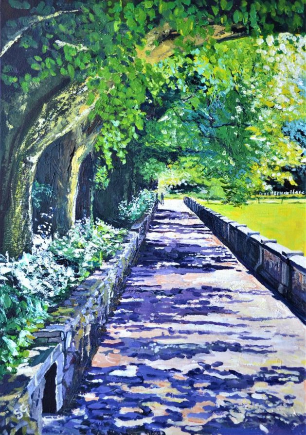 Early Summer, Ilam Derbyshire. Original art by Simon Gilmartin