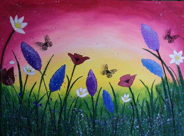 Summer Meadow. Original art by Sarah Dodd