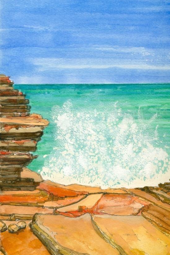 Gantheaume Point 2, WA. Original art by Nick Byford