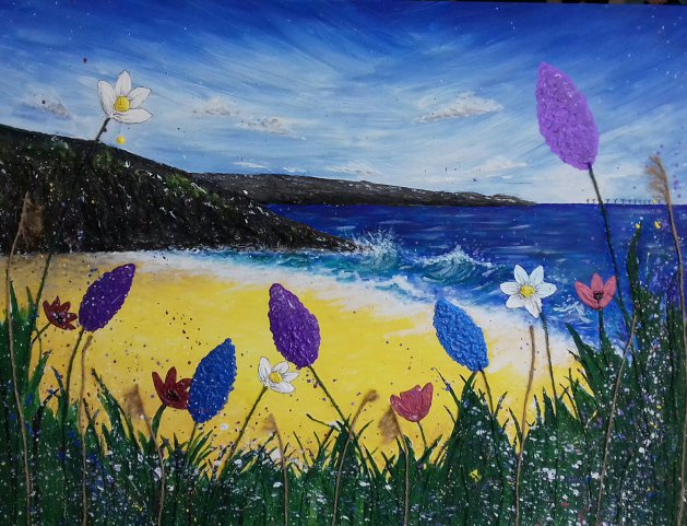 View from the flowers. Original art by Sarah Dodd