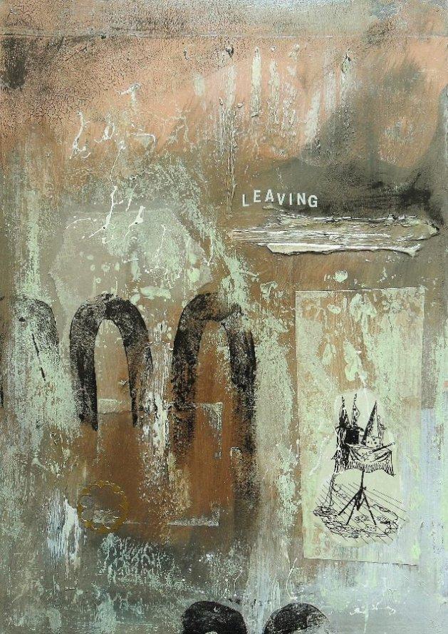 Leaving. Original art by Bea Roberts