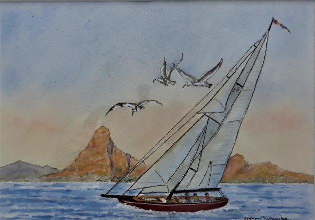 Sailing Round The Cape. Original art by Graham Luscombe