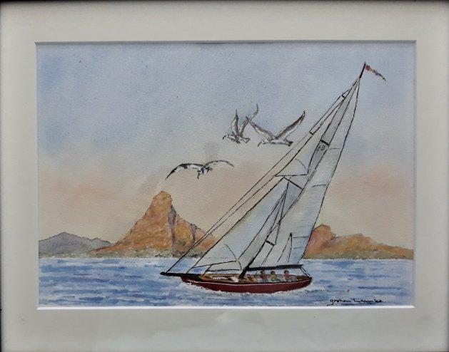 Sailing Round The Cape. Original art by Graham Luscombe