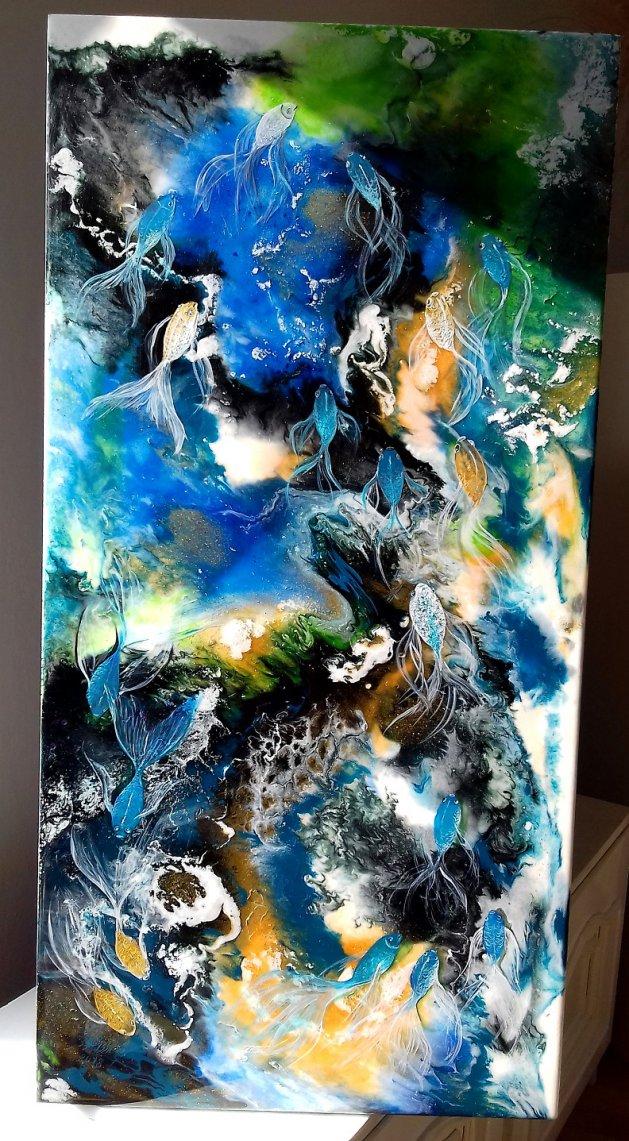 Blue dance. Original art by Elena Bissinger