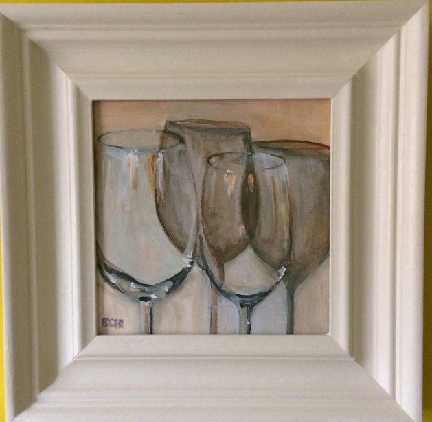 Glass reflected. Original art by Sarah Nesbitt