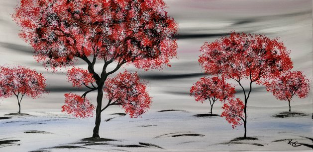 Cold Forest. Original art by Edward Kens