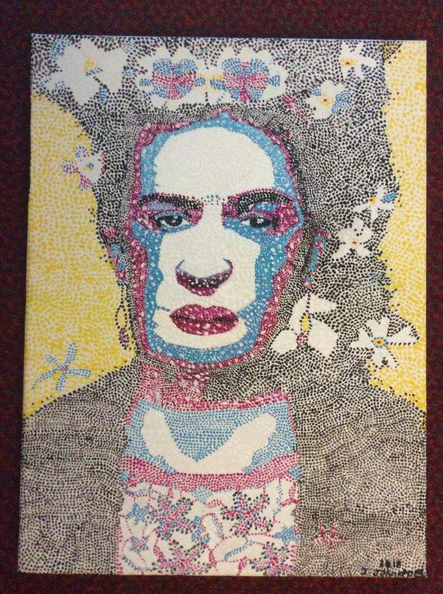 Freda kahlo. Original art by Judy Johnstone