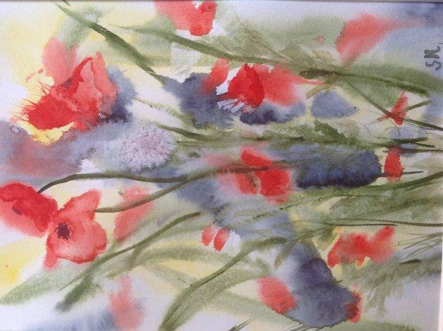 Poppies. Original art by Sue Hodgson