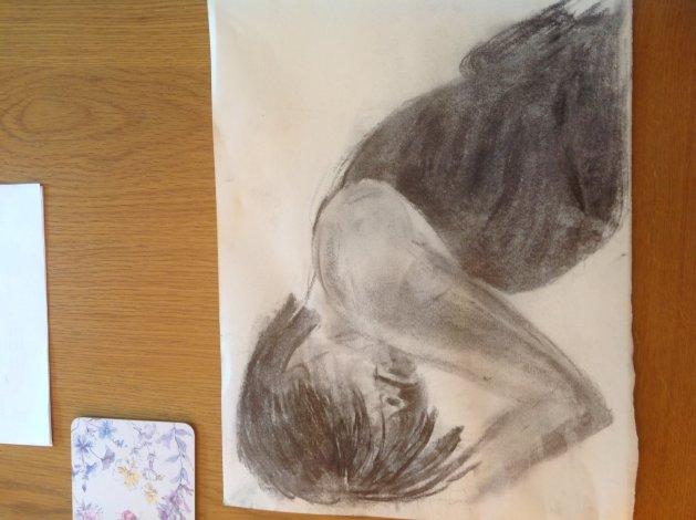 Life drawing. Original art by Sue Hodgson