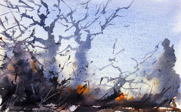 Winter Trees #12. Original art by Adrian Homersham