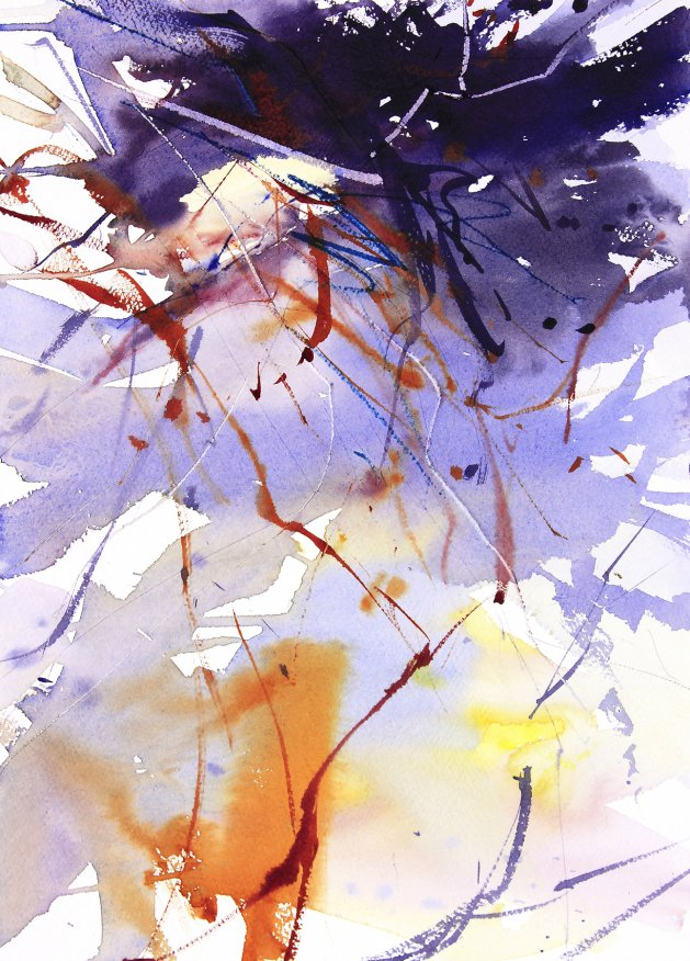 Winter Undergrowth. Original art by Adrian Homersham
