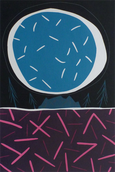 Blue Moon. Original art by Julian Davies