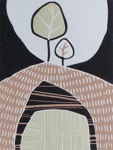Terracotta Tor. Original art by Julian Davies