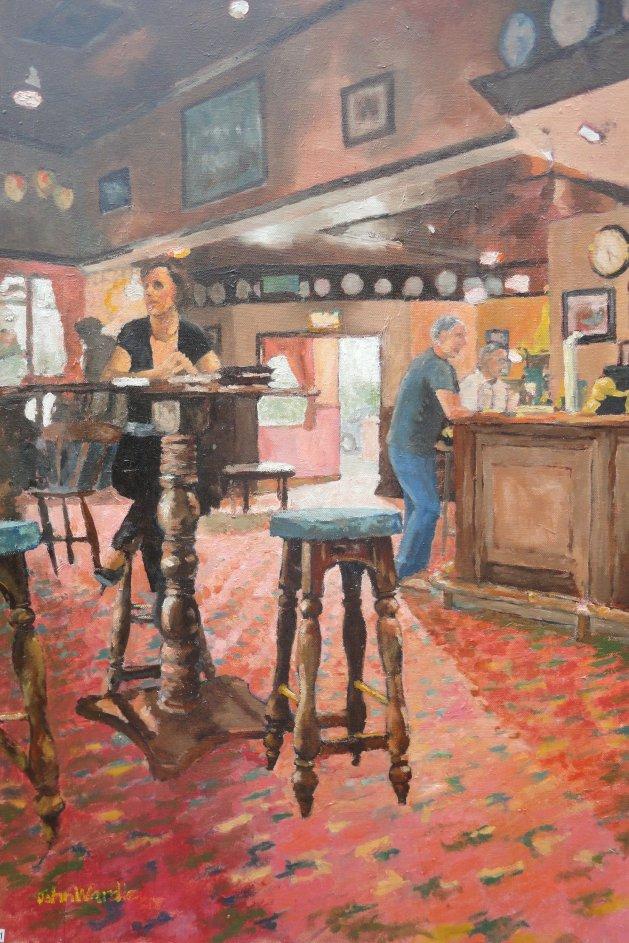At The High Table. Original art by John Wardle