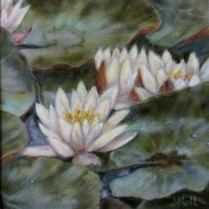 Waterlilies. Original art by Heather Roll