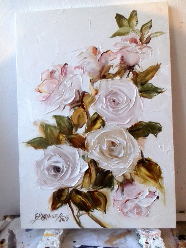 roze ,flowers,art. Original art by Elena Bissinger