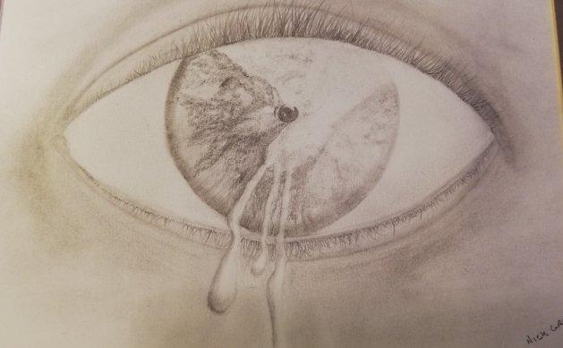 Eye. Original art by Nick Gray