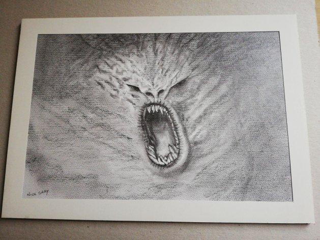 Raging Cloud. Original art by Nick Gray