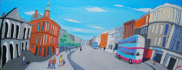 Belfast Panoramic. Original art by Randle Drury