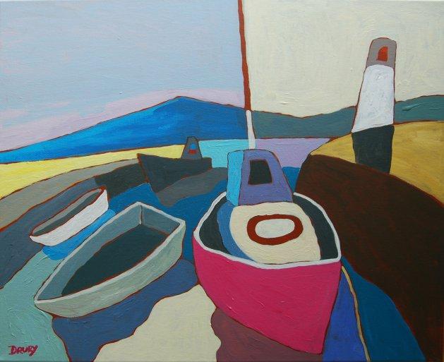 Abstract Boats#3. Original art by Randle Drury