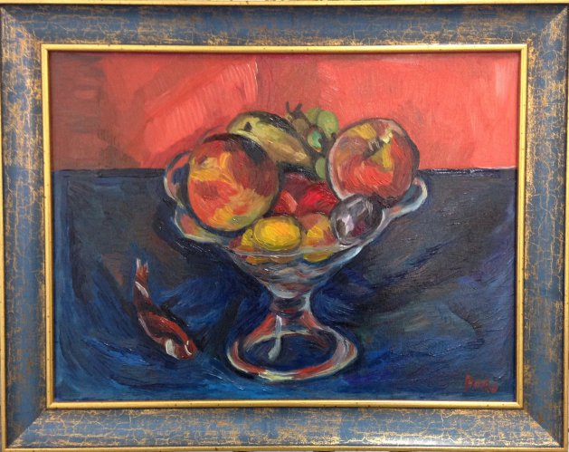 Bowl of Fruit. Original art by M. A. Pioro