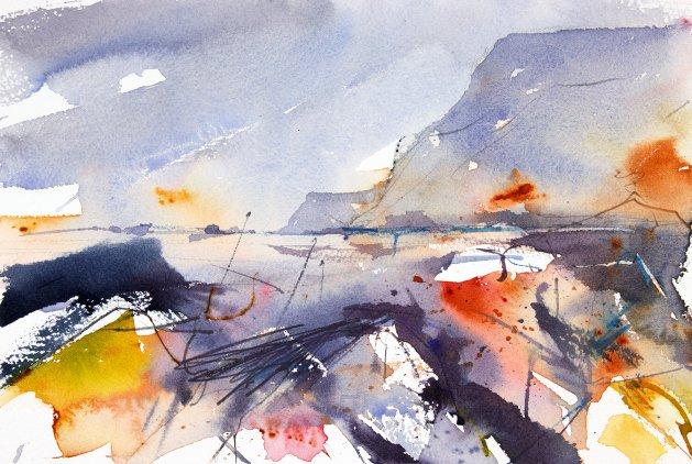 Rust, Rocks and Eroding Coast. Original art by Adrian Homersham