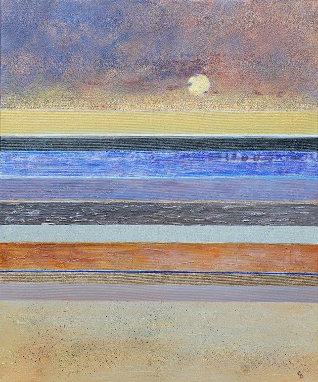 Sand and Sea. Original art by Christine Derrick