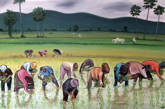 The Rice Planters. Original art by Aisha Haider