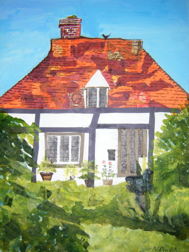 Cottage I. Original art by Nikki Griffith