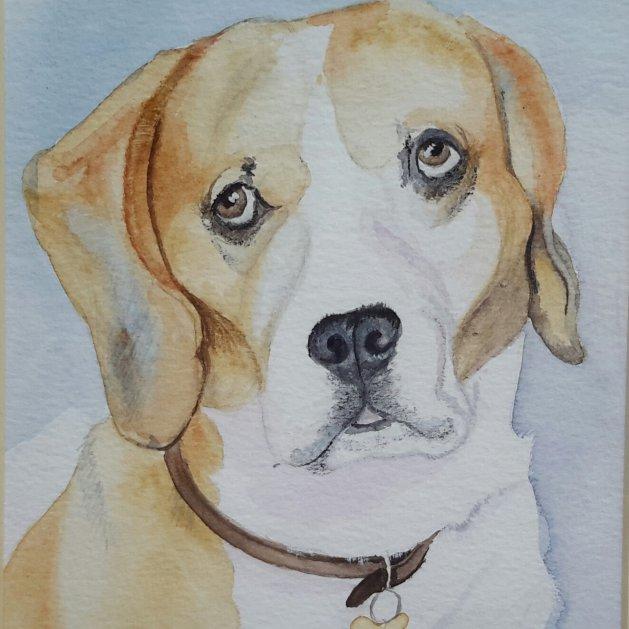 Beagle. Original art by Denny Aitch