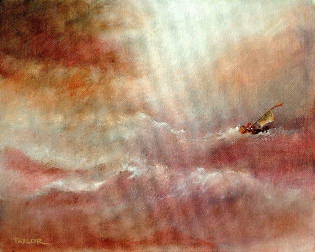 Lap Of The Gods. Original art by Paul Taylor