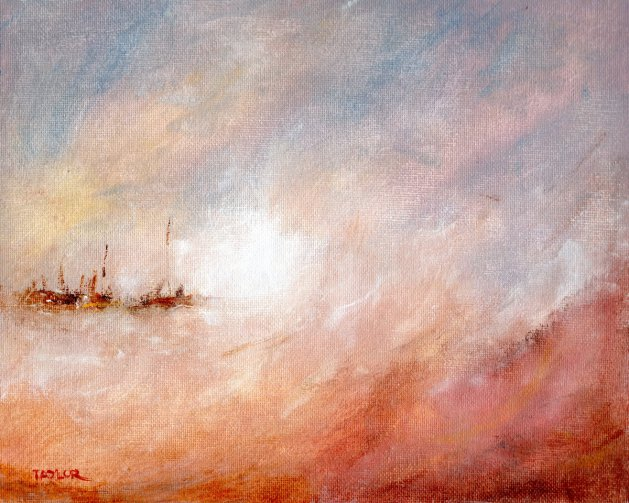 Storm Along The Coast. Original art by Paul Taylor