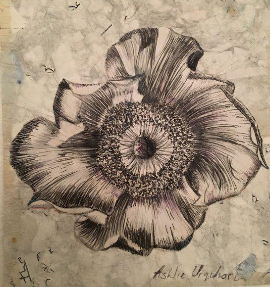 Flower. Original art by Ashlie Urquhart