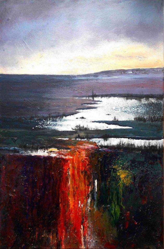 Marshes Dusk. Original art by Teresa Tanner