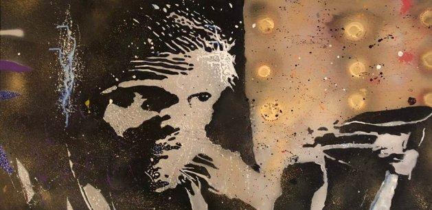 Tom Hardy. Original art by Ashlie Urquhart